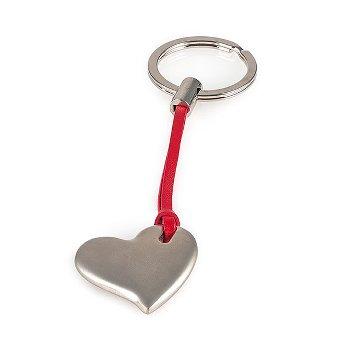 Key ring, heart, zinc alloy L 12,5cm