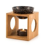 "Fragrance lamp ""Fire"" bamboo/ceramic,"