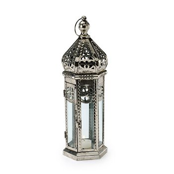 "Lantern ""Nouria"" metal/glass, H 38"