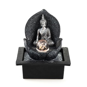 "Fountain ""Silver Buddha"", polyresin,"
