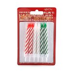 Birthday candles with holders, 12 pcs.,