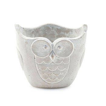 """Cover pot """"Owl"""" oval size S"""