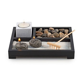 "Buddha-Set ""Puro"" incl. tealigth holder,"