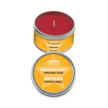 Scented tin-candle