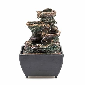 "Fountain ""Stone"", polyresin, H 17 cm"