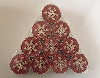 """Teelichte """"Pyramide Schneeflocken"""","""