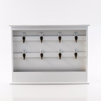 Key shelf, Wood/metal, L 40 x B 4 x H 30