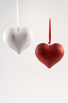 hanging heart, 2 assorted, Wooden,