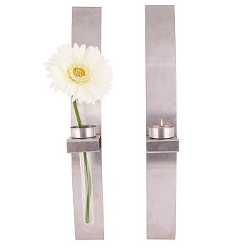Wall tealight & vase holder