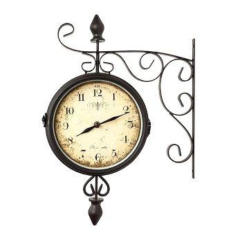 Wall clock, 9 x 31 x 43 cm, without bat