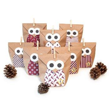 "Bastelset ""Christmas Owl red"""