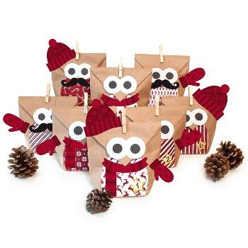 "Bastelset ""Christmas Owl red"" + Extras"