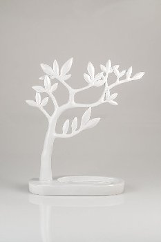 Tree, polyresin, L 26 x B 9 x H 30 cm