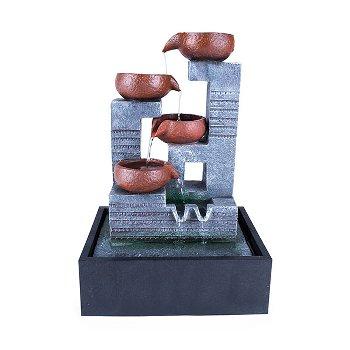 """Fountain """"pots"""", polyresin"""