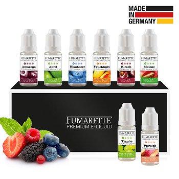 E-Liquids, 8er-Set 0mg/ml Frucht