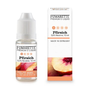 E-liquid, Peach 0 mg/ml