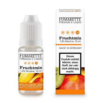 E-liquid, Mixed Fruit 18mg/ml