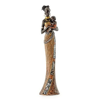 Sculpture African woman with Baby