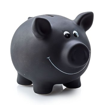 "Piggy bank ""black board"", ceramic,"