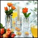 Candlestick, H 6 cm, glass