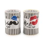 "Fragrance lamp ""Mr & Mrs"" 2-assorted,"