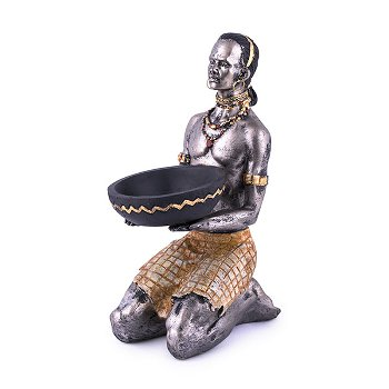 African man with candle holder