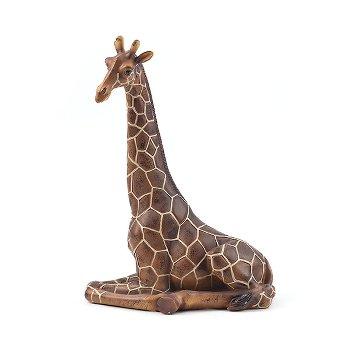 Giraffe sitzend