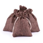 "Jute bags set ""Brown"", 24 pcs.,"