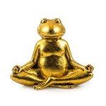 "Yoga Frog ""Namaste"", polyresin, H 11 cm"