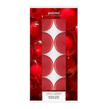 Scented tea lights pomegranate, Set of 8