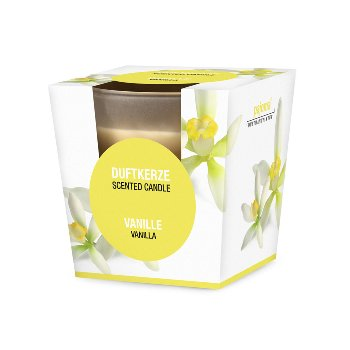 Scented candle, vanilla,