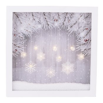 "LED wall decoration ""Winter Feeling"""