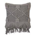 Kissen, Grau aus Baumwolle von Bloomingv
