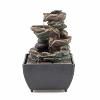 "Fountain ""Stone"", polyresin, H 17 cm"