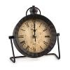 """Clock """"London"""" metal/plastic, black,"""