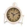 "Clock ""London"" metal/plastic, white,"