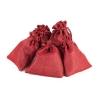 "Jute bags set ""Red"", 24 pcs.,"
