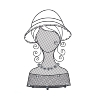 Lady head wall shelf, jewellery,
