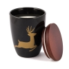 "Scented candle ""Reindeer"", ceramic pot,"