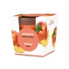 """Scented glas candle """"Peach"""""""