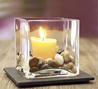 Kerzenhalter/LED